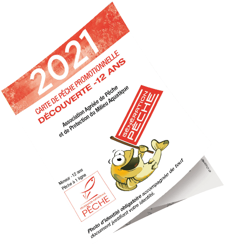 Carte de pêche Découverte -12 ans Ardèche 2019
